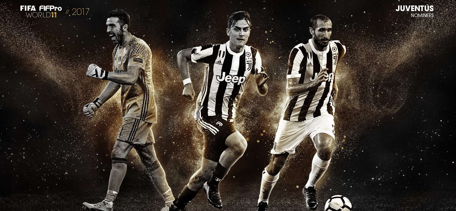 World 11 Fifpro, FIFA, AIC, top team, Bonucci, Chiellini, Buffon, Bonucci, Dybala