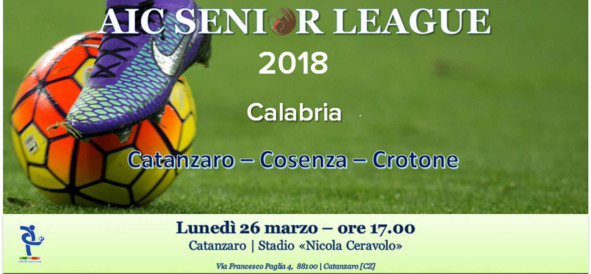 AIC Senior League, AIC, Associazione Italiana Calciatori, Catanzaro
