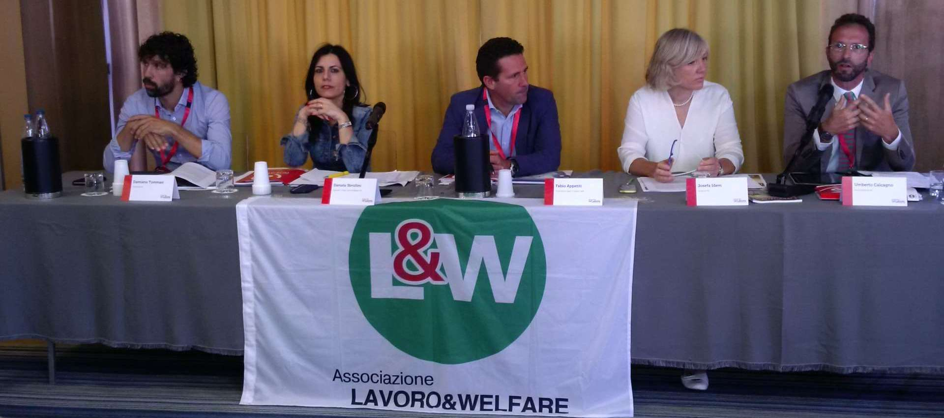 Tommasi Sbrollini Idem Damiano Calcagno Welfare Lavoro & Welfare